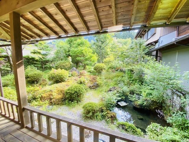 中津川市付知町 中古住宅 庭の写真