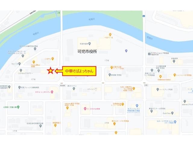 中華そばよっちゃん 地図