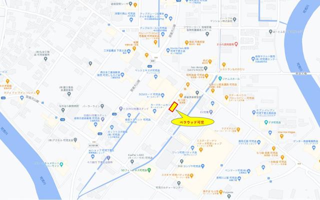 賃貸マンション ベラウッド可児 地図